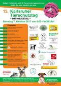Herzliche Einladung zum 13. Karlsruher Tierschutztag am Samstag, den 7.10.2017 von 9:00 - 16:30 Uhr