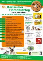 10. Karlsruher Tierschutztag 2014 am 04.Oktober 2014  - wir sind dabei!
