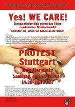 Demo in Stuttgart am 17.05.2014 ab 16.15 Uhr // EUROPA STEHT AUF GEGEN DAS TÖTEN DER RUMÄNISCHEN STRASSENHUNDE